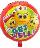 Beterschap folie ballonnen emoticon