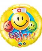 Beterschap folie ballonnen smiley