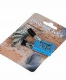 Blauw bagageslot met kabel