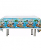 Blauw feest tafelkleed piraten thema 137 x 182 cm