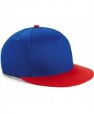 Blauw met rode kinder snapback cap