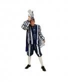 Blauw prins carnaval kostuum voor heren