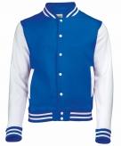 Blauw wit jacket met drukknopen
