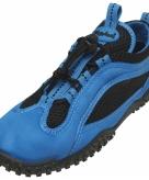 Blauw zwarte surfschoenen met trekkoord