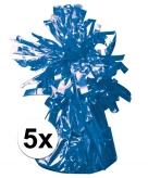 Blauwe ballonnen gewichten 5 stuks