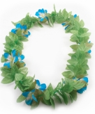 Blauwe bloemen hawaii krans