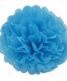 Blauwe decoratie pompoms 35 cm
