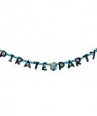Blauwe feest letterslinger piraten thema
