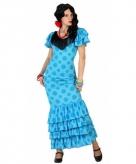 Blauwe flamenco jurk voor dames