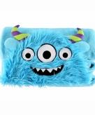 Blauwe monster fleecedeken 100 x 130cm