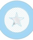 Blauwe papieren bordjes met ster