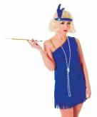 Blauwe roaring twenties jurk