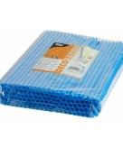 Blauwe shake rietjes 25 cm 135 stuks