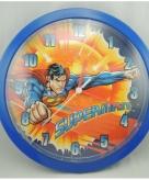 Blauwe superman klok 26 cm