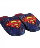 Blauwe superman sloffen voor kids