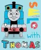 Blauwe thomas de trein fleece bankdeken voor jongens