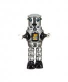 Blikken speelgoed robot grijs 22 cm