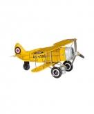 Blikken speelgoed vliegtuigje 20 cm