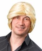 Blonde heren pruik ouderwets model