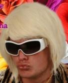 Blonde korte herenpruiken dj