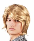 Blonde pruik voor heren jaren 70 stijl