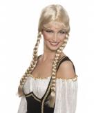 Blonde tirolerpruik voor dames