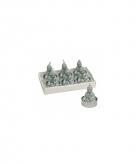 Boeddha waxine lichtjes mint 6 stuks