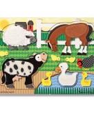 Boerderijdieren puzzels van hout 10090481
