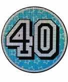 Bord 40 jaar holografisch