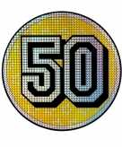 Bord 50 jaar holografisch