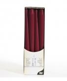 Bordeaux rode kandelaarkaarsen 25 cm