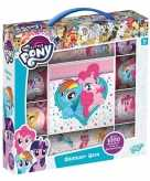 Box met 1000 my little pony stickers