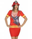 Brandweer shirt kostuum voor dames