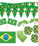 Braziliaanse vlag decoraties versiering pakket xl