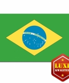 Braziliaanse vlag luxe kwaliteit