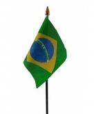 Brazilie vlaggetje polyester