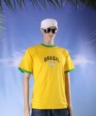 Brazilie voetbal thema shirt brasil voor heren