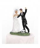 Bruidspaar figuurtje met voetbal