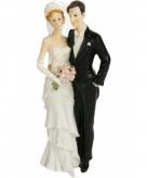 Bruidstaart poppetjes bruidspaar staand 21 cm