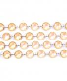 Bruiloft decoratie kristal slinger goud