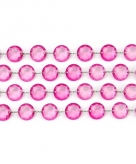 Bruiloft decoratie kristal slinger roze
