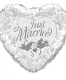 Bruiloft folieballonnen just married