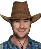 Bruine cowboyhoed elroy wilde westen verkleedaccessoire