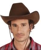 Bruine cowboyhoed rodeo wilde westen verkleedaccessoire