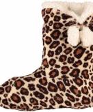 Bruine luipaard print sloffen voor dames