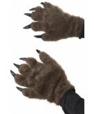 Bruine weerwolf handschoenen