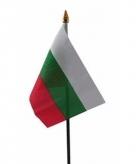 Bulgarije vlaggetje polyester
