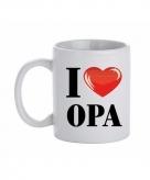 Cadeau i love opa koffiemok beker 300 ml
