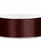 Cadeaulint bruin 25 mm