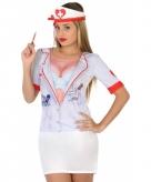Carnaval zuster shirt voor dames